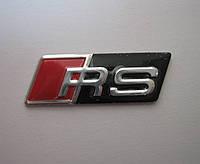 3D эмблема RS мини  - красный  - черный