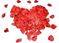 """Конфетти """"Лепестки роз"""" тканевые 0,5 кг (красные)"""