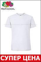 Мужская футболка плотная мягкая Белая Fruit of the loom 61-422-30 4XL, фото 3