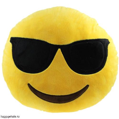 Подушка Смайлик в очках