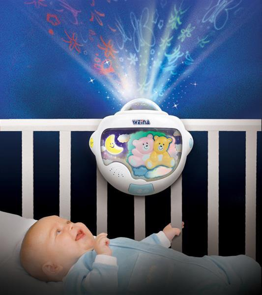 Ночник-светильник с проектором Двойняшки Тедди Weina 2129
