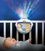 Ночник-светильник с проектором Двойняшки Тедди Weina 2129, фото 1