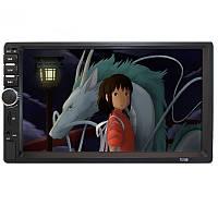 ✓Автомагнитола Lesko 7018B мультимедийная с экраном 7 дюймов функция ответа на звонки USB TF card AUX