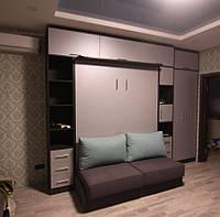 Двуспальная шкаф-кровать с диваном  , фото 1