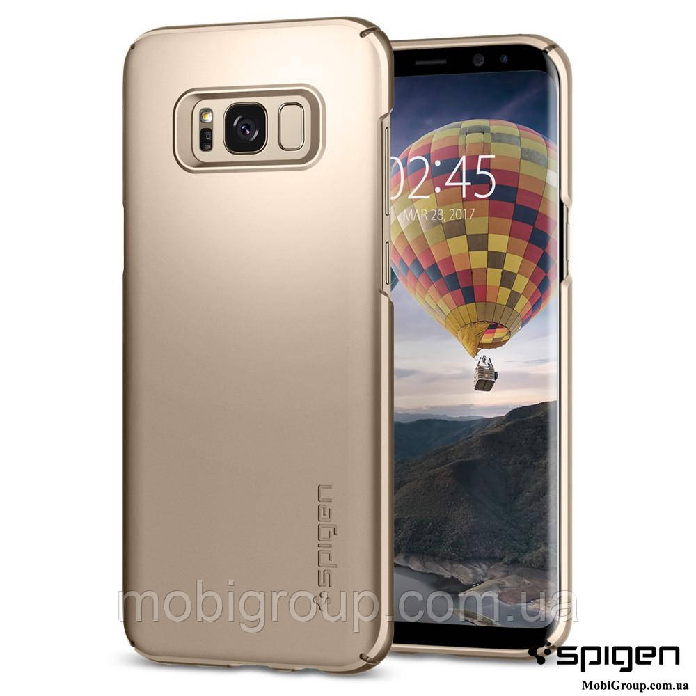 Чехол Spigen для Samsung S8 Thin Fit, Gold Maple , фото 1
