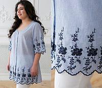 Блузка летняя с вышивкой, с 56-62 размер, фото 1