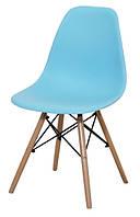 Стул DS-913 ENZO голубой, деревянные ножки