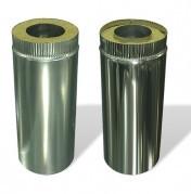 Двустенная труба из нержавеющей стали в оцинкованном кожухе, ф100/160