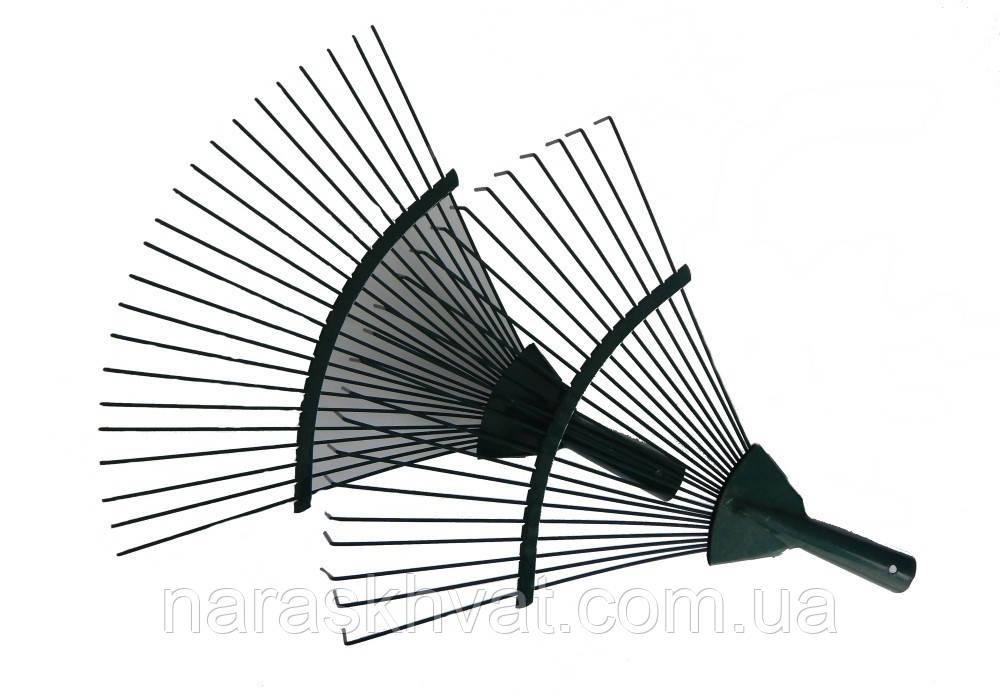 Грабли веерные крашеные для уборки листьев