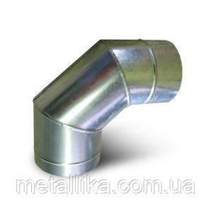 Колено 90 оцинкованное  Ø100⁰  мм, в Одессе