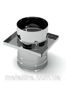 Шибер из оцинкованной стали, ф100