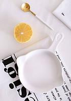 Керамическая тарелка белая в виде сковородки LoveAffair 16 см ( керамическая посуда )