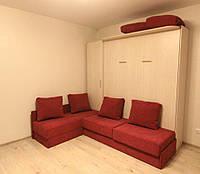 Двуспальная шкаф-кровать с угловым диванчиком