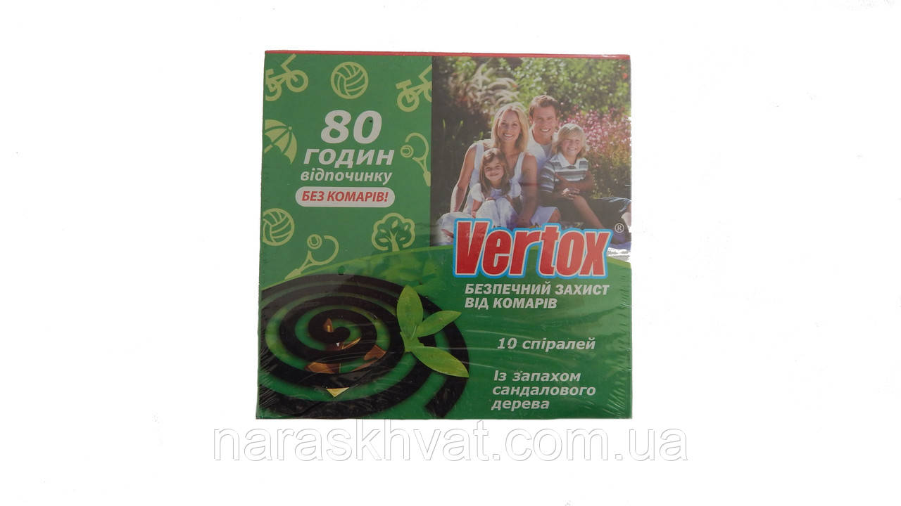 "Спирали от комаров ""Vertox"" Санадал 10 шт."