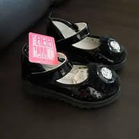Туфлі дитячі чорні з LED підсвіткою 25-29
