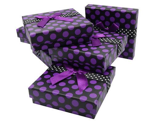 """Подарочная коробочка """"Горох с бантом"""" для набора"""