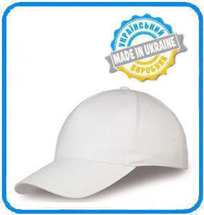 Белая рекламная кепка пятиклинка ПРОМО