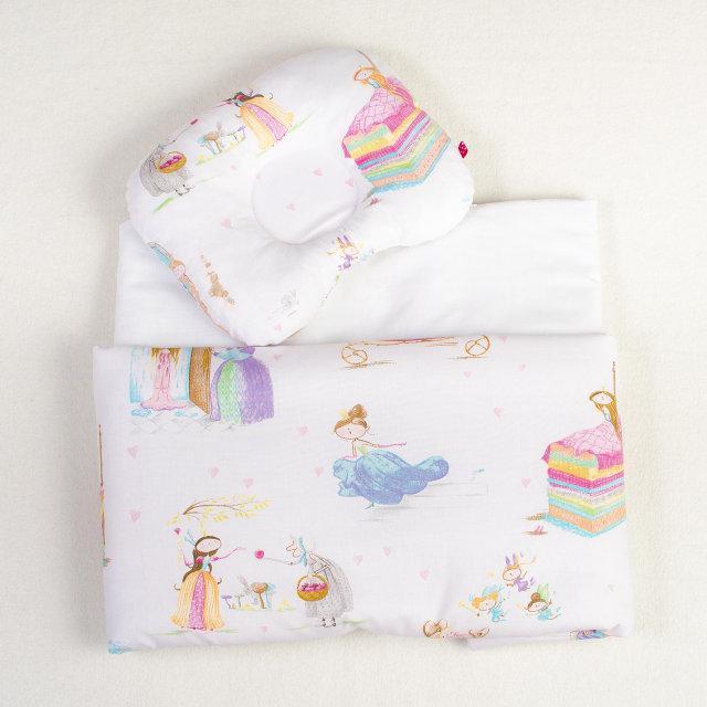 Комплект в коляску димесезонный BabySoon Сказочные принцессы одеяло 65х75 см подушка 22х26 см