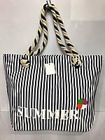 Пляжная сумка 2855 Summer женская текстильная ручки канаты