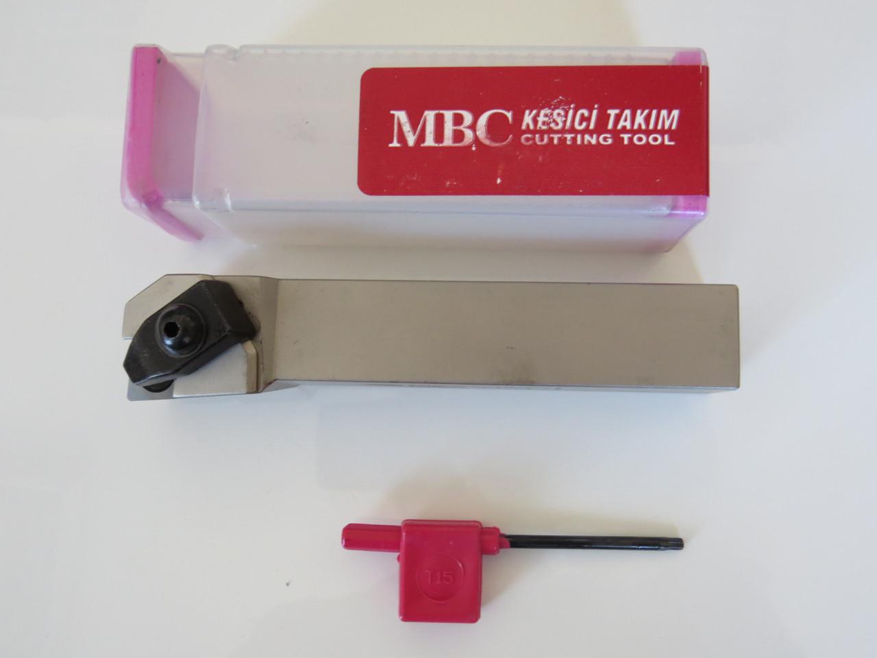 Резец проходной подрезной с механическим креплением 25х25х150 TCLNR М16 MBC