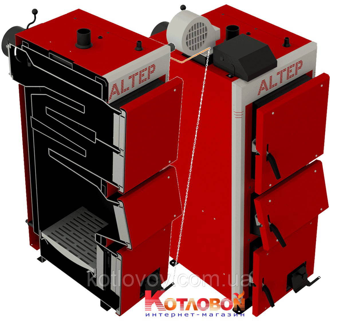 Твердотопливный котел длительного горения Альтеп Altep DUO UNI/DUO UNI PLUS (КТ-2ЕN/M)