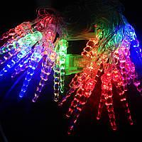 Гирлянда Сосульки витые LED 28 мульти