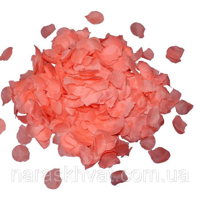 """Конфетти """"Лепестки роз"""" тканевые 0,5 кг (розовые)"""