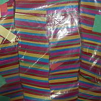 """Конфетти """"Полоски"""" бумажные цветные 1 кг"""