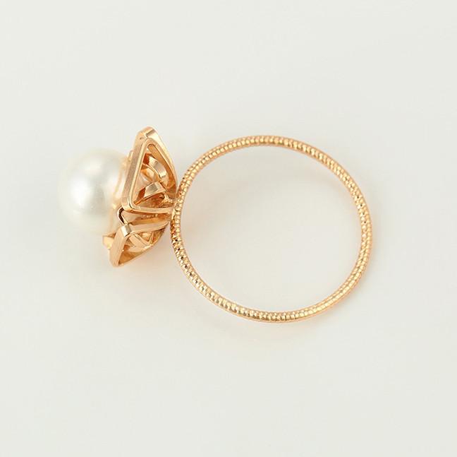 Кольцо Xuping 15437 размер 17 искусственный жемчуг позолота 18К