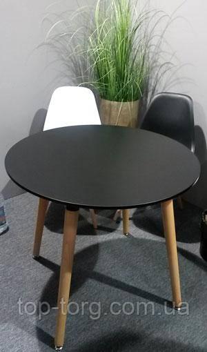 Стол круглый DT-9017 NOLAN III черный, не раскладной 800мм