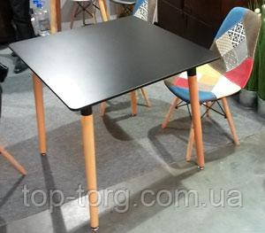 Стол квадратный DT-9017 черный 800х800м NOLAN II