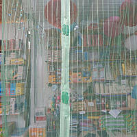 Антимоскитная штора на магнитах Полоска 100*210 см