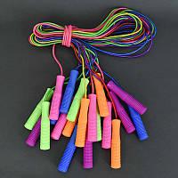 .Скакалка А 07 / 466-914 (60) 10 шт в связке, /ЦЕНА ЗА 10шт/ толщина 4мм, длина 2,5м, ароматизированная, с блёстками, толстая ручка