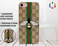 Силиконовый чехол для Apple Iphone 4_4s (Gucci Bee)