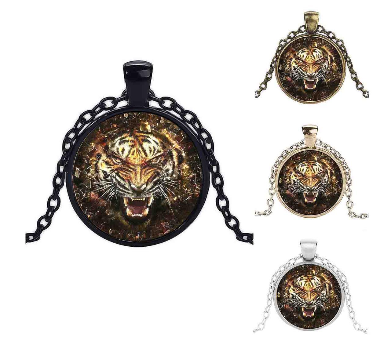 Кулон огненный тигр