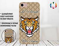 Силиконовый чехол для Apple Iphone 4_4s (Gucci Tiger)