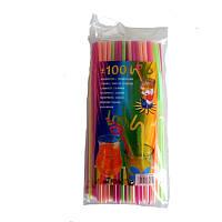 Трубочки для коктейлей (100 шт.) 4 цвета
