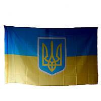Флаг Украина с гербом 150*90 см, фото 1