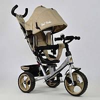 Велосипед 3-х колёс. 5700 - 3540 /БЕЖЕВЫЙ/ Best Trike (1) ТКАНЬ ЛЁН, ПОВОРОТНОЕ СИДЕНЬЕ, КОЛЕСА EVA (ПЕНА) переднее колесо d=28см. задние d=24см