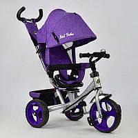 Велосипед 3-х колёс. 5700 - 3870 /СИРЕНЕВЫЙ/ Best Trike (1) ТКАНЬ ЛЁН, ПОВОРОТНОЕ СИДЕНЬЕ, КОЛЕСА EVA (ПЕНА) переднее колесо d=28см. задние d=24см