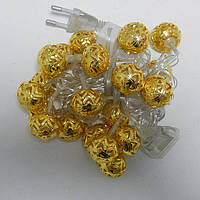 Гирлянда Сфера Золото LED 20 (105), фото 1