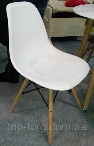 Стілець Enzo DS-913 білий, дерев'яні ніжки