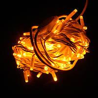 Гирлянда уличная Нить LED 100, жёлтая, белый провод (1-50)