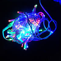 Гирлянда уличная Нить LED 100, мульти, белый провод (1-48)