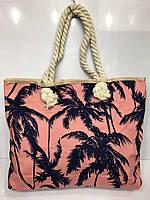 Пляжная сумка 2862 женская текстильная с рисунком  48 см *35 см * 10 см