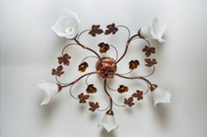 Люстра потолочная флористика 5601 Елена