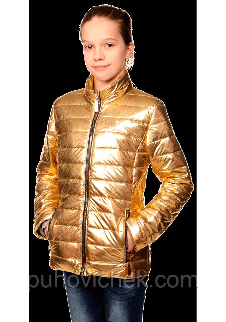 Красивая куртка для девочки блестящая