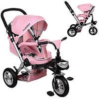 Детский трёхколёсный велосипед M AL3645A-10 розовый Turbo Trike