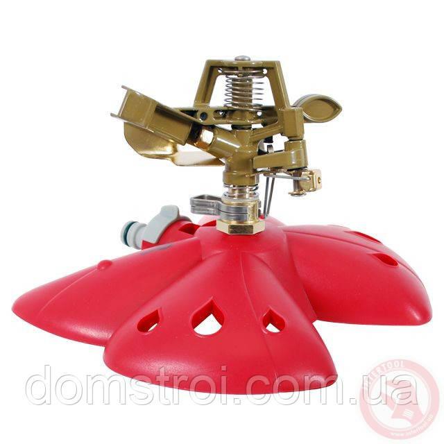 Дождеватель пульсирующий с полной/частичной зоной полива на базе, круг/сектор полива до 12 м, metal INTERTOOL