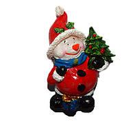 """Новогодняя свеча """"Снеговик с ёлочкой"""""""